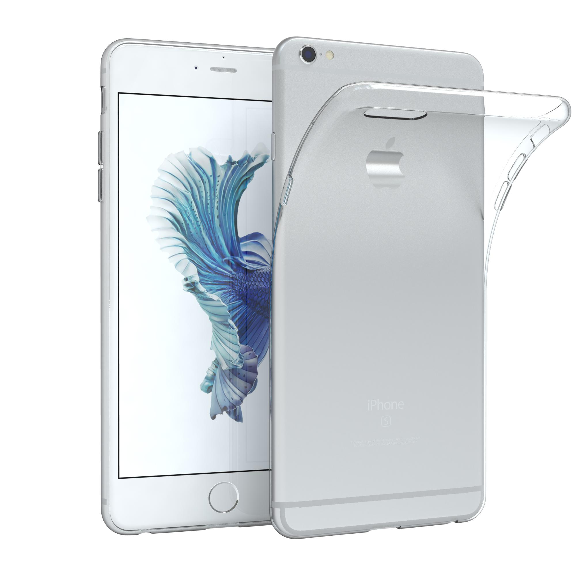 handyh lle f r iphone 6 plus iphone 6s plus slimcover d nn transparent r ckseite ebay. Black Bedroom Furniture Sets. Home Design Ideas