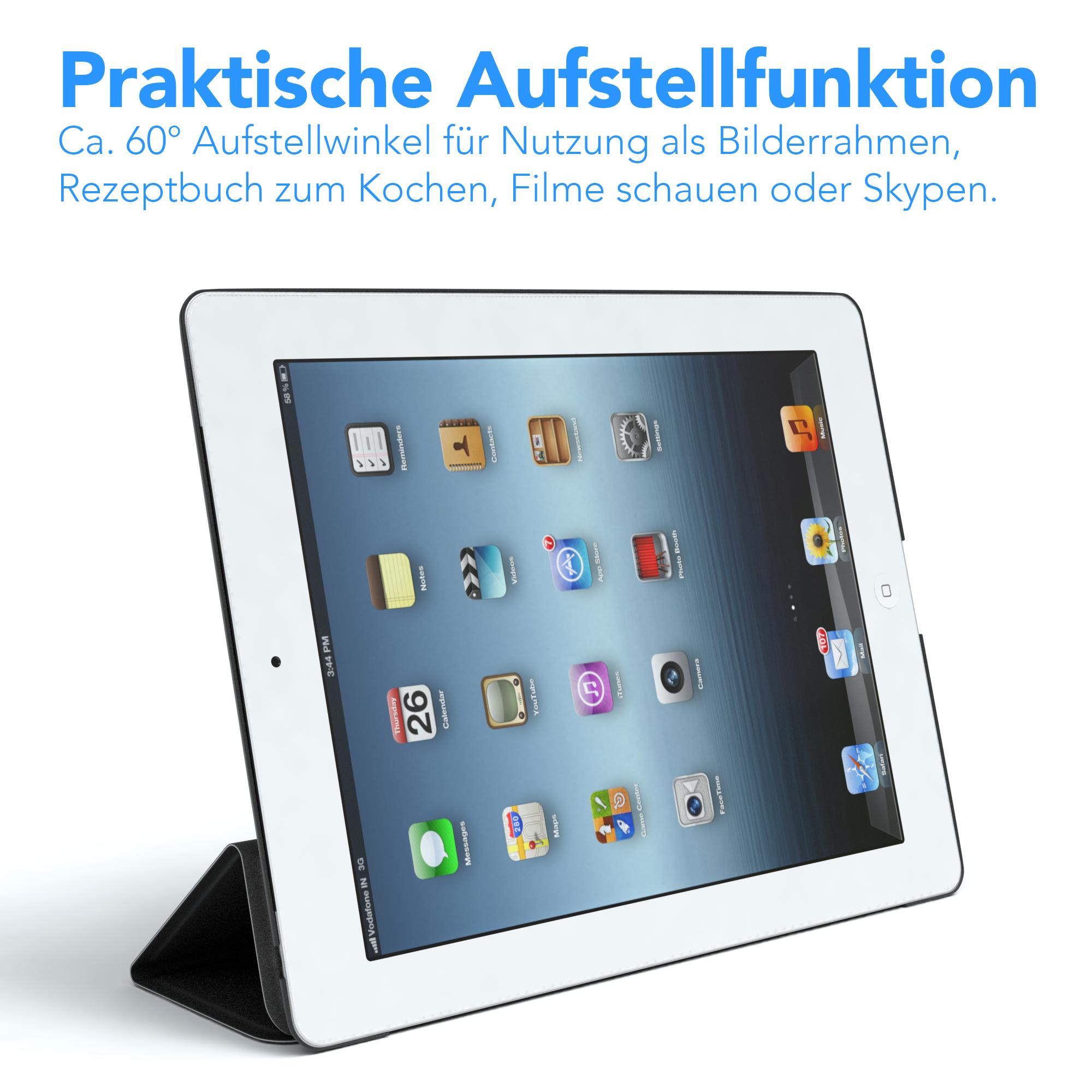 ipad 4 ipad 3 ipad 2 smart case cover schutz h lle etui. Black Bedroom Furniture Sets. Home Design Ideas
