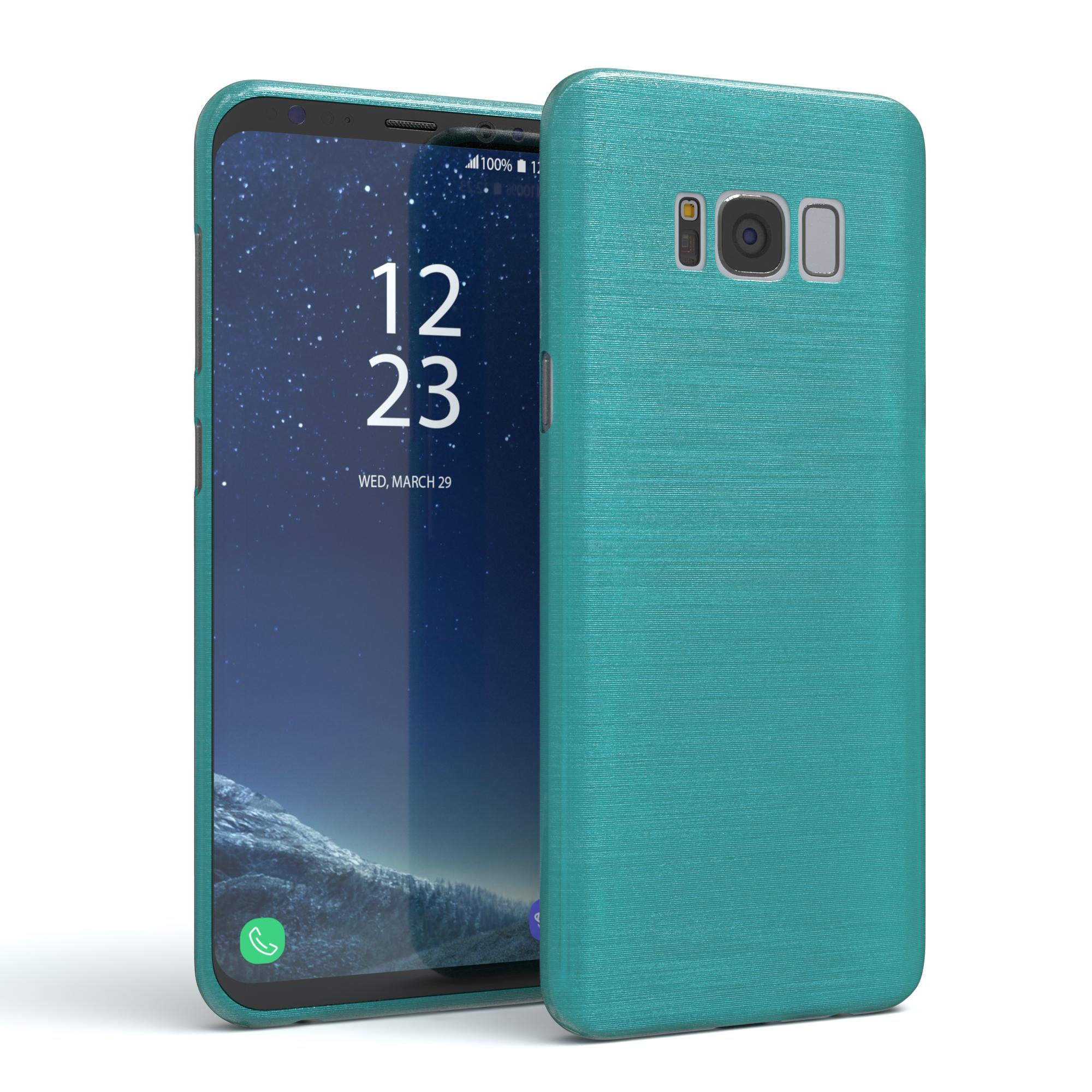 Brushed-Cover-fuer-Samsung-Galaxy-Schutz-Huelle-Slim-Case-Silikon-TPU-Handy-Tasche