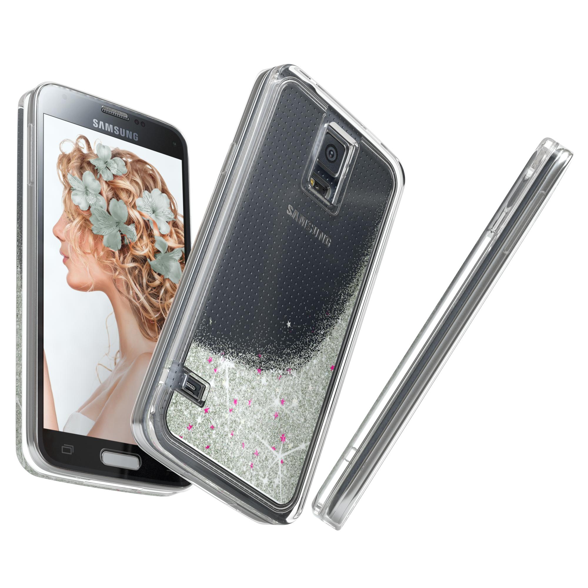 Schutz Hülle f. Samsung Galaxy S5 / Neo Liquid Glitzer ...