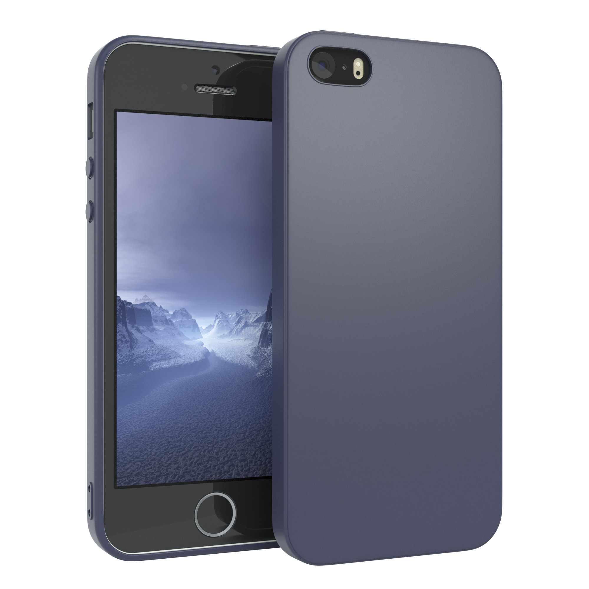 Handyhuelle-fuer-Apple-iPhone-SE-5-5S-Huelle-Tasche-Silikon-Backcover-Case-Cover Indexbild 13