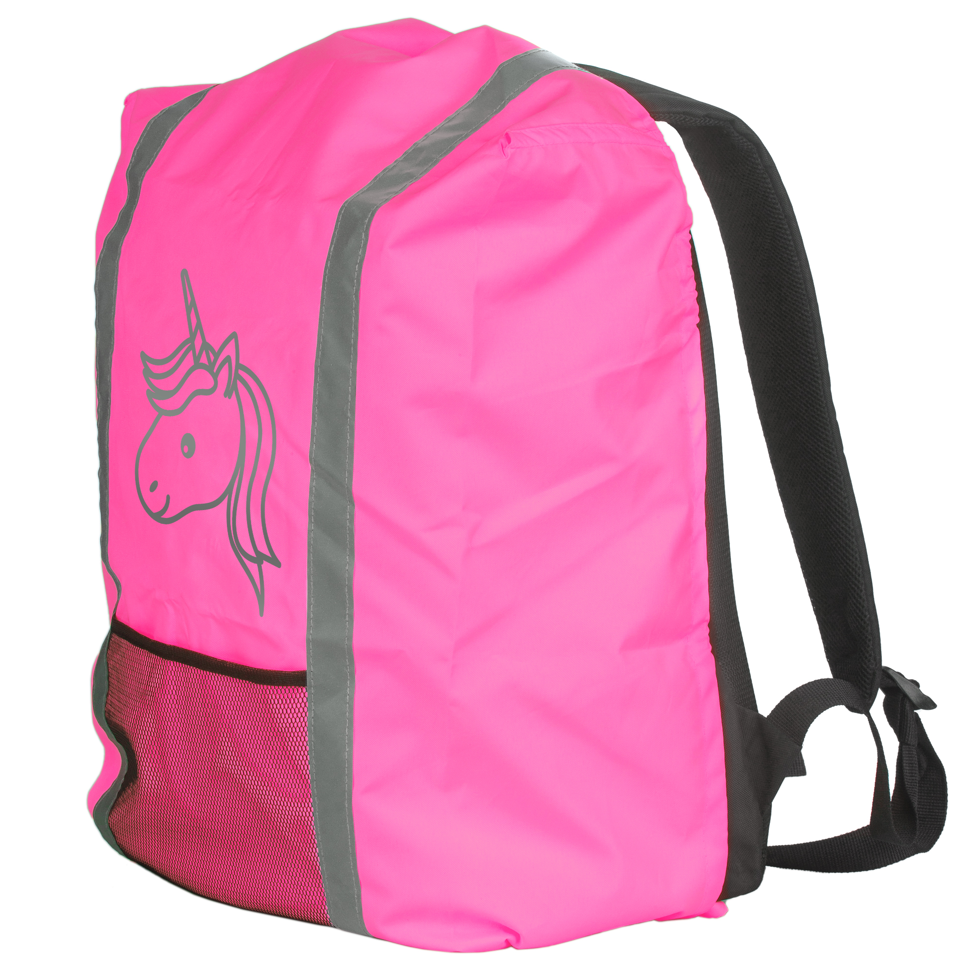 2 x Regenschutzhülle Sicherheitsschutzhülle für Schulranzen Rucksäcke neongelb