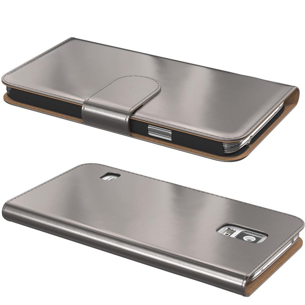 handy tasche f r samsung metallic optik flip cover case. Black Bedroom Furniture Sets. Home Design Ideas