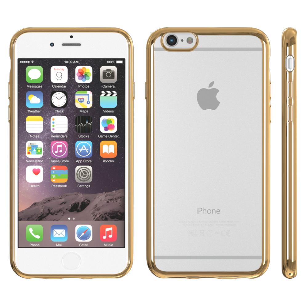 h lle f r apple iphone case schutz cover chrom tpu tasche slim silikon metallic ebay. Black Bedroom Furniture Sets. Home Design Ideas